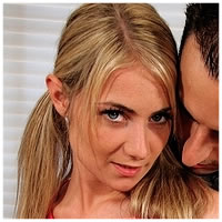 Naughty Blond Gets Her Tight Pussy Filled With Cock!