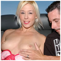 Blond Slut Stacy Will Do Anything For A Ride!